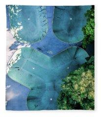 Skatepark - Aerial Photography Fleece Blanket