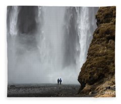 Skogafoss, Iceland Fleece Blanket