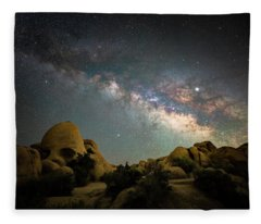 Skull Rock And Milky Way Fleece Blanket