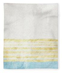 Sky Blue 1- Art By Linda Woods Fleece Blanket