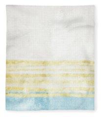 Sky Blue 2- Art By Linda Woods Fleece Blanket