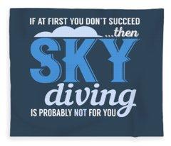 Sky Diving Fleece Blanket