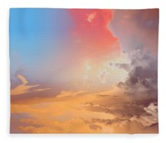 Sky Fight Fleece Blanket