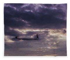 Sky Fisherman Fleece Blanket