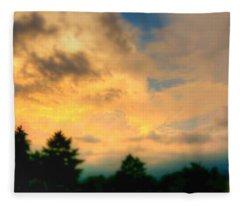 Sky On Fire Fleece Blanket