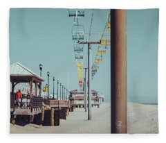 Fleece Blanket featuring the photograph Sky Ride by Steve Stanger