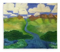 Sky River To Sea Fleece Blanket