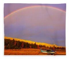 Skylane Rainbow Fleece Blanket