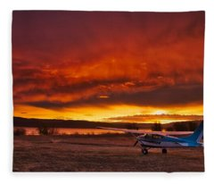 Skylane Sunrise Fleece Blanket