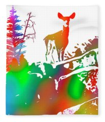 Skyline Deer Habitat Panel 1l Fleece Blanket