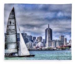 Skyline Sail  San Francisco Ca Fleece Blanket
