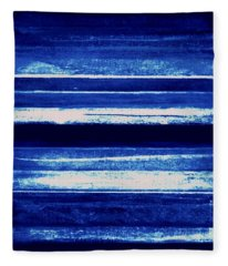 Skyscape-blue Abstract Fleece Blanket