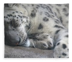 Sleeping Cheetah Fleece Blanket