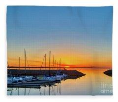 Sleeping Yachts Fleece Blanket