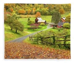 Sleepy Hollow Farm In Autumn Fleece Blanket