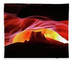 Slot Canyon Mountain Fleece Blanket