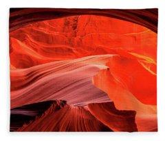 Slot Canyon Waves 1 Fleece Blanket