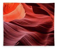 Slot Canyon Waves 2 Fleece Blanket