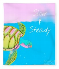 Slow And Steady Fleece Blanket