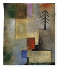 Small Picture Of Fir Trees, 1922 Fleece Blanket