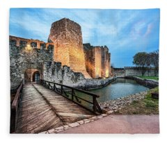 Smederevo Fortress Gate And Bridge Fleece Blanket