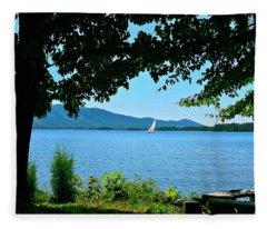 Smith Mountain Lake Sailor Fleece Blanket