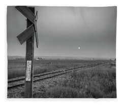 Smoke Haze Over The Prairie Fleece Blanket