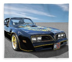 Smokey And The Bandit Trans Am Fleece Blanket