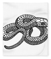 Smooth Green Snake Fleece Blanket