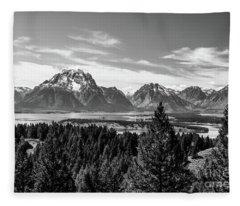Snake River Teton Mountains Fleece Blanket