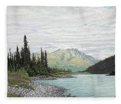 Snake River Yukon Fleece Blanket
