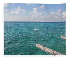 Snorkeling Fleece Blanket