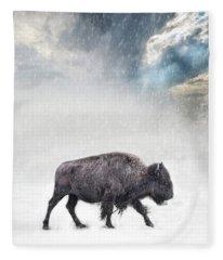 Snow Day Buffalo Fleece Blanket