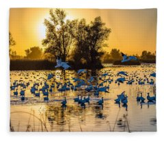 Snow Geese Fleece Blanket