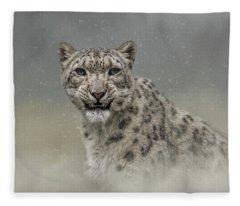 Snow Ghost Fleece Blanket