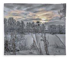 Snow #i3 Fleece Blanket