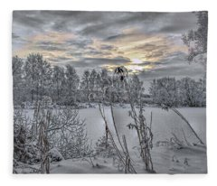 Snow #i3 Fleece Blanket