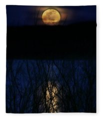 Snow Moon Fleece Blanket
