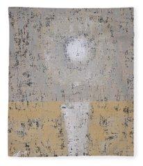 Snow Moon Original Painting Fleece Blanket