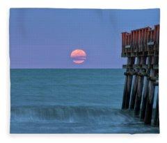 Snow Moon Fleece Blanket