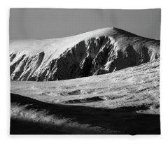 Snow On Cairngorm Fleece Blanket