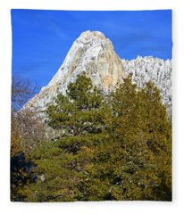 Snow On Lily Rock - Idyllwild Fleece Blanket