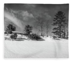 Snow Ripples Fleece Blanket