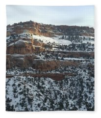 Snow Steps Fleece Blanket