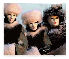 Snowbirds With Hand Warmers Fleece Blanket