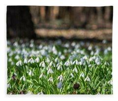 Snowdrops Field Fleece Blanket
