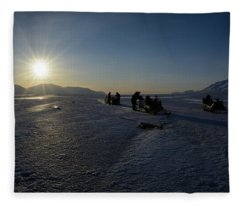 Snowmobile Expeditions Fleece Blanket