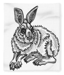 Snowshoe Hare Fleece Blanket