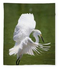 Snowy Dance Fleece Blanket
