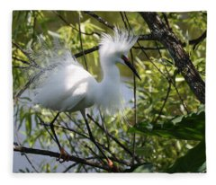 Snowy Egret 4031202 Fleece Blanket